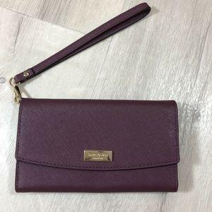 Kate Spade Saffiano Leather iPhone Wristlet Wallet